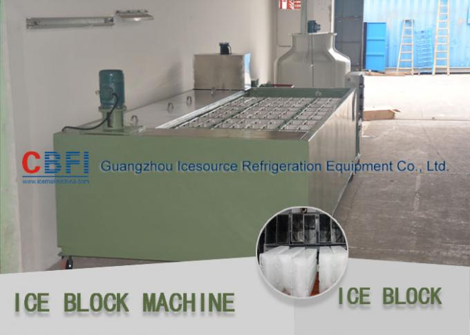 R22 / R404a Refrigerant 5 Ton Per 24 Hrs Ice Block Making Machine For Ice Business