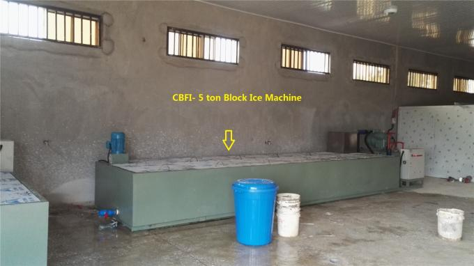 Water Cooling Commercial Ice Block Machine 10 Tons / Day BBI100 For Fishing Business