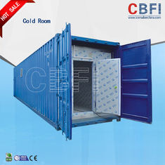 چین Color Steel Panels Sliding Door Container Cold Room -18 - -25 For Fish And Meat کارخانه