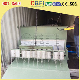 Stainless Steel 316 Block Ice Maker / Dry Ice Block Machine With Crane System