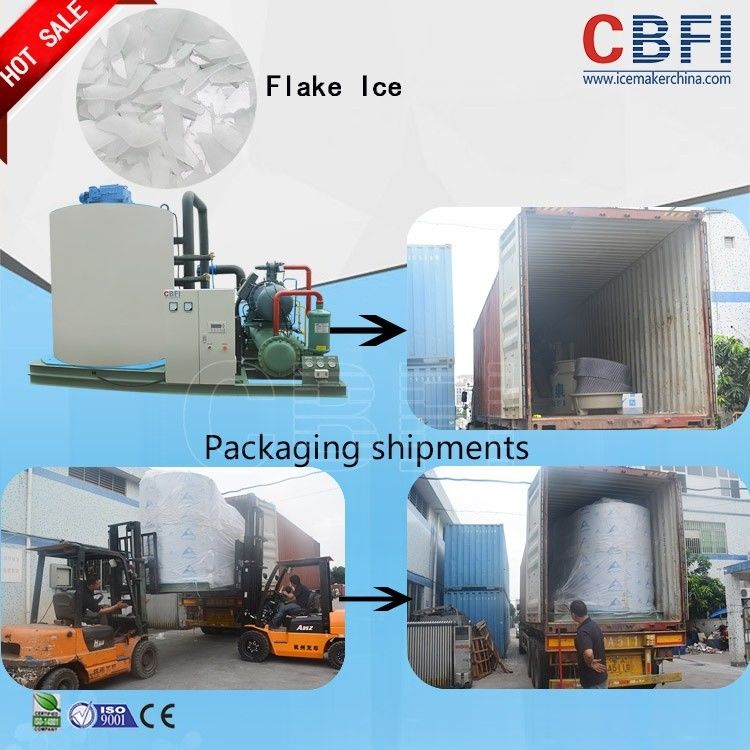 Large Flake Ice Maker Machine With Automatic Controlling System تامین کننده