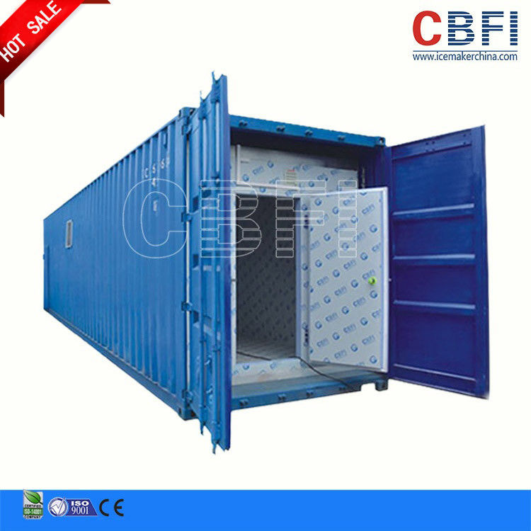 Refrigeration 20 Ft 40ft Container Cold Room / Freezer Shipping Containers For Fish Meat Storage تامین کننده