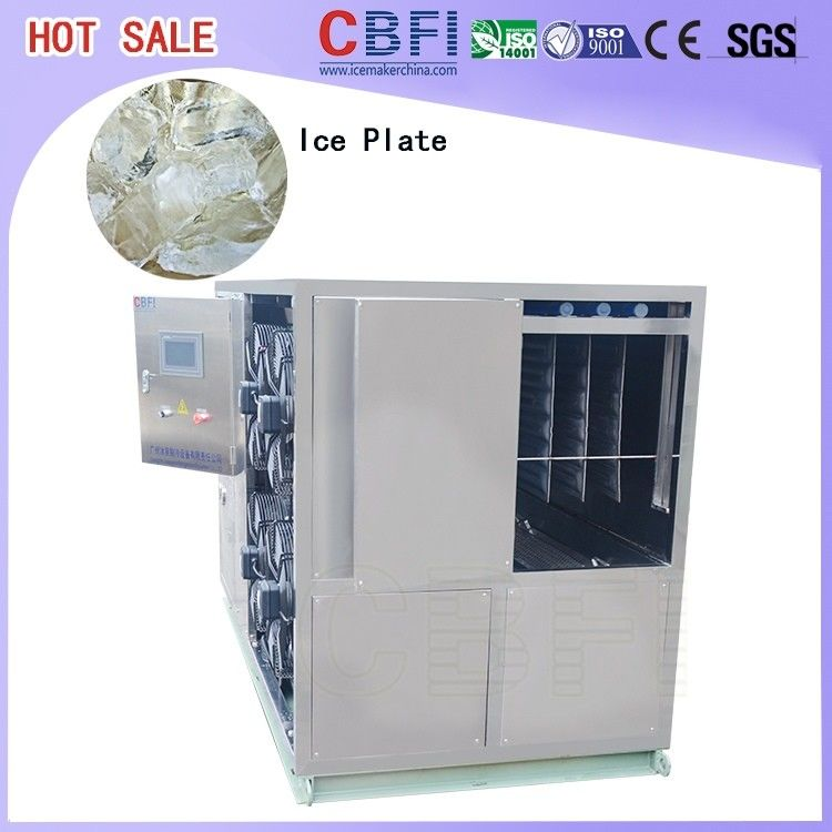 1 Ton To 50 Tons Per Day Plate Ice Maker , Commercial Ice Making Machine For Freezing Seafood تامین کننده