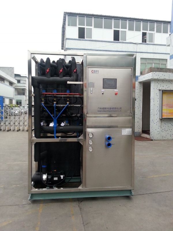R22 / R404a Refrigerant Industrial Ice Maker Machine , Air Cooled Ice Maker تامین کننده