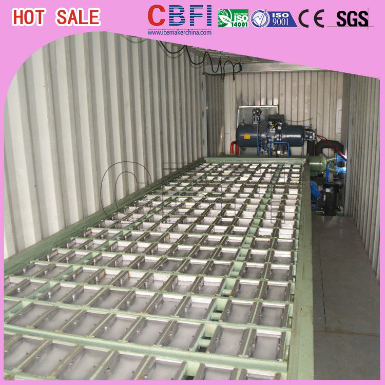 1 ~ 12 MT Daily Capacity Container Industrial Ice Block Making Machine For Supermarkets تامین کننده