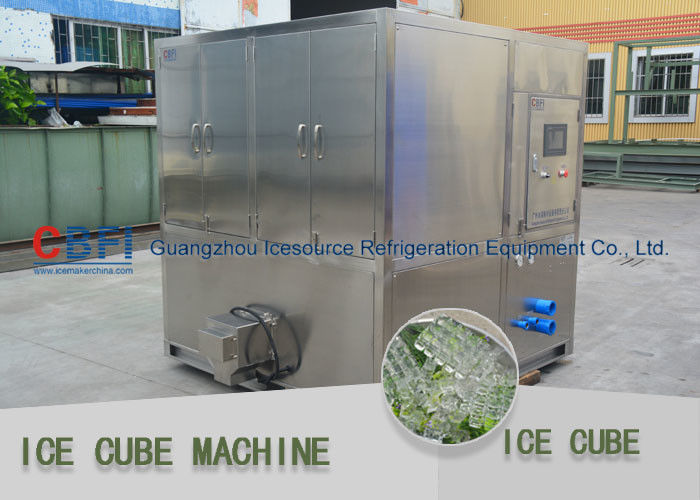 1 ton - 20 ton water cooled Ice Cube Machine with Stainless Steel 304 Material تامین کننده