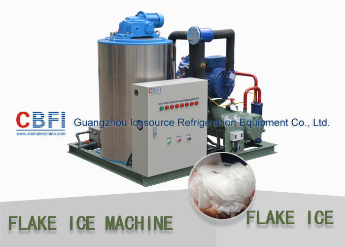 Fast Industrial 1 Ton Flake Ice Making Machine For Fish Fresh Keeping تامین کننده