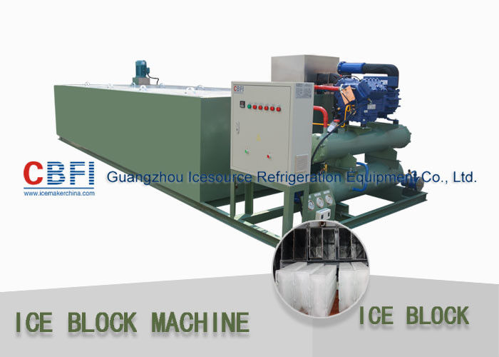 R22 / R404a Refrigerant 5 Ton Per 24 Hrs Ice Block Making Machine For Ice Business تامین کننده