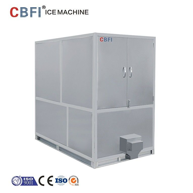 1000kg Air Cooled Ice Cube Machine With Germany Bitzer / R22 Refrigerant تامین کننده