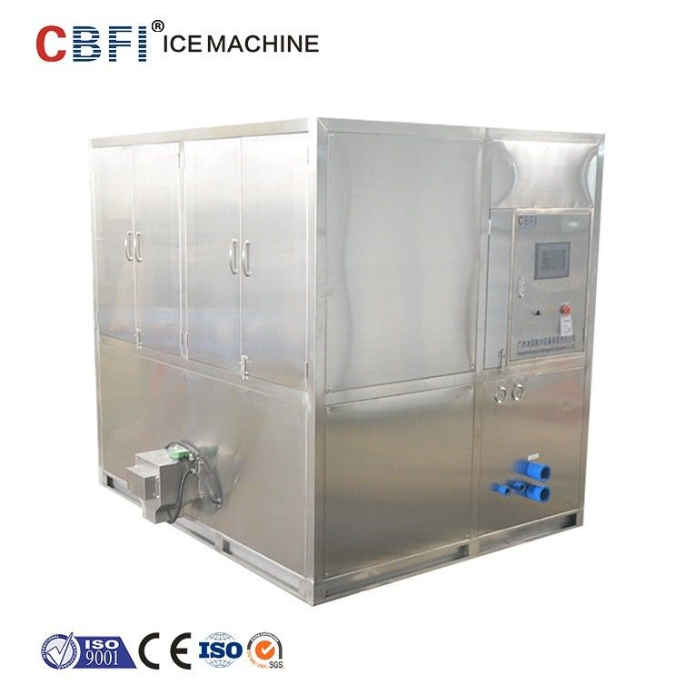 Water Cooled 2 Tons Square Cube Ice Maker for Food Grade Plant تامین کننده