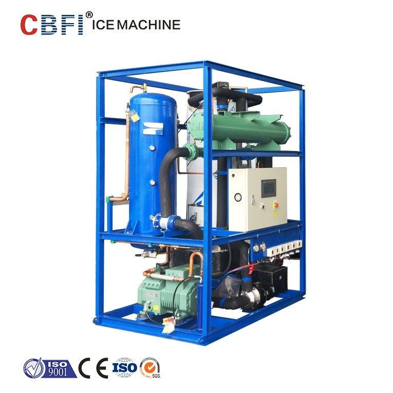 CBFI Water Cooling 1 Ton Ice Tube Machine with Siemens system تامین کننده