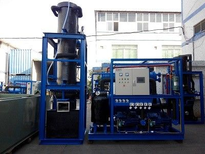 High Production 15 Ton Tube Ice Machine Refrigeration Equipment For Hotel تامین کننده