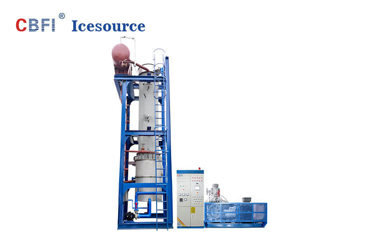 Water Cooling 24 Hours Running Ice Tube Machine Denmark Danfoss Expansion Valves تامین کننده