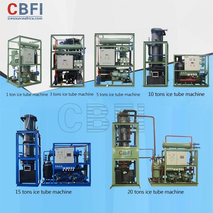 CBFI Water Cooling 1 Ton Ice Tube Machine with Siemens system