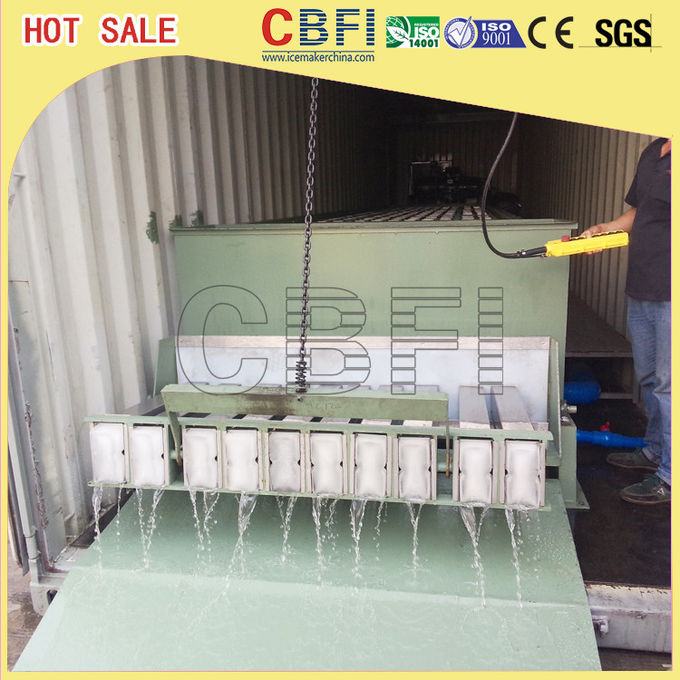 Fishery Cooling Containerized Block Ice Machine Germany Bitzer Compressor