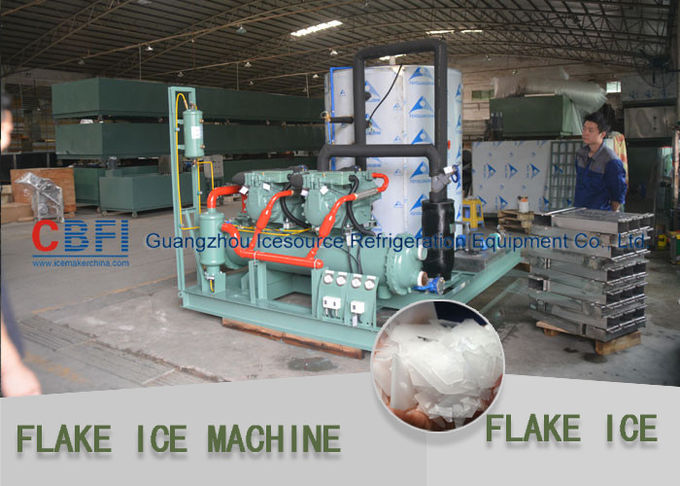 Large Daily Capacity Commercial Flake Ice Machine Fresh Water 10 Tons - 30 Tons