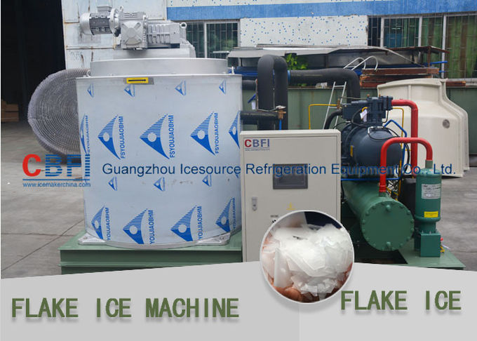 High Efficiency Automatic Snowflake Ice Machine / Commercial Flake Ice Maker