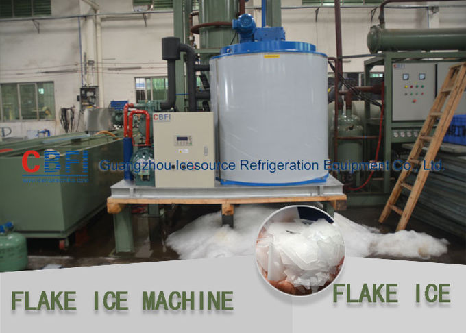 Quick White Flake Ice Machine With One Button Start / PLC Control