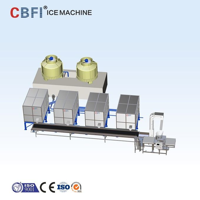 Integrated Industrial Ice Cube Making Machine R507 Refrigerant