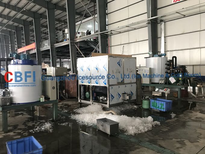 1000kg Air Cooled Ice Cube Machine With Germany Bitzer / R22 Refrigerant